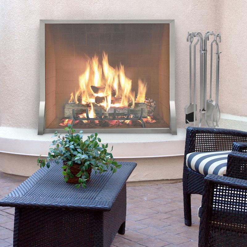 Sku 18257 18260 Categories Fireplace Screens Indoor Outdoor Screen Pilgrim Single Panel View All